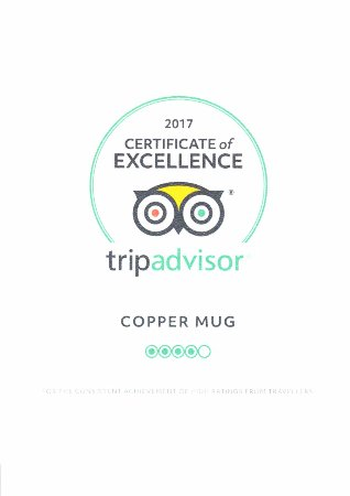 Tillsonburg, Kanada: Certificate of Excellence awarded by Tripadvisor 2017.