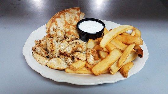 Kenly, Carolina del Norte: Chicken Souvlaki Platter