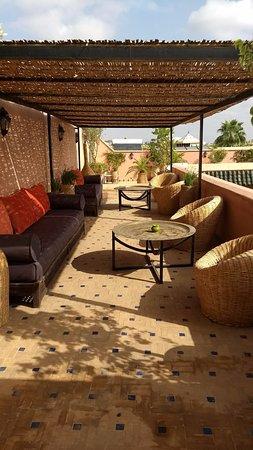 Palais Riad Calipau Marrakech: Terraza increible del Riad