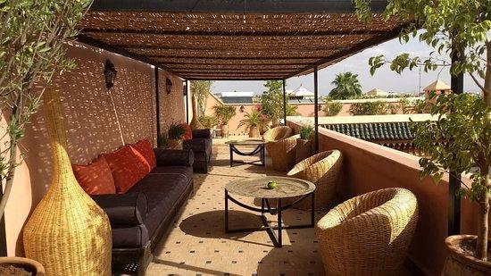 Palais Riad Calipau Marrakech: La terraza del riad, super fresca y divina