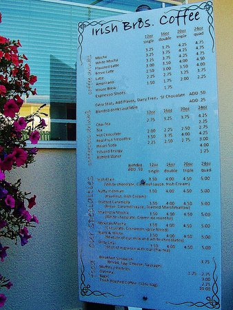 Gresham, Oregón: Menu by ordering window