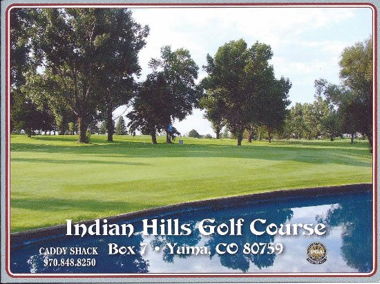 Score Card, Indian Hills Golf Course, Yuma, CO
