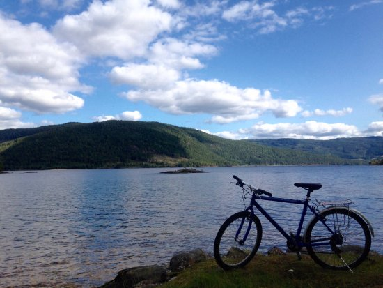 Evje, Norway: Cycling around the lake
