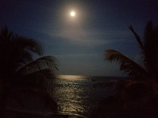 Bodden Town, Grand Cayman: Just look at that moon