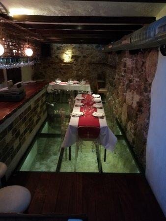 Roman Theatre Museum Glass Floor In The Restaurant