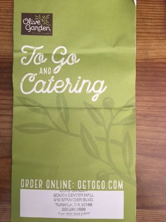 The To Go and Catering Menu Card -2 - Picture of Olive Garden ...