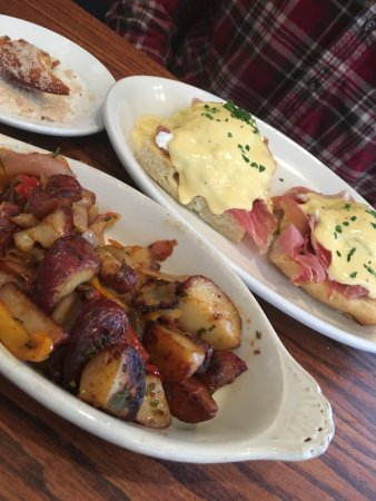 The Corner Room Kitchen & Bar: Olive oil eggs benedict (you have to like olive oil!)