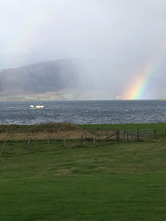 Orphir, UK: Early morning view from the living room looking towards Hoy.