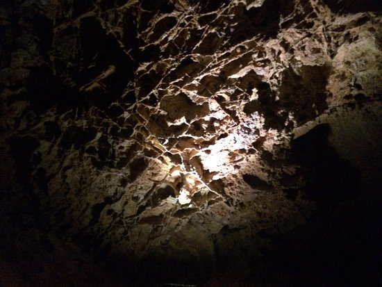 """Wind Cave National Park, SD: Delicate """"Boxworks"""" on cave walls."""