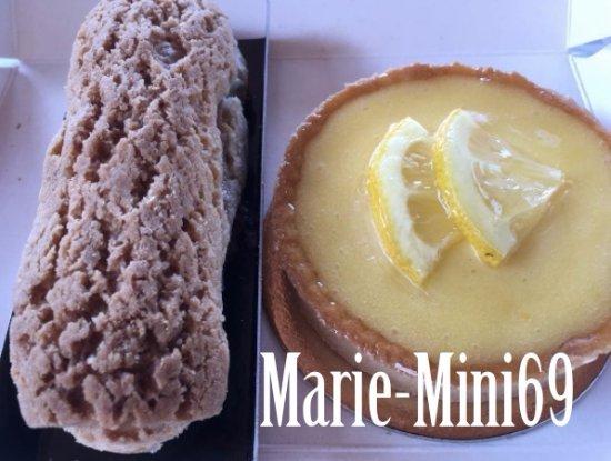 Nougat André Boyer: Une éclair au nougat et une tarte citron