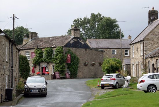 Redmire, UK: The Bolton Arms from the quoits ground