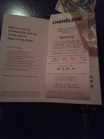CHAMÄLEON Theater: Cuenta de dos cervezas