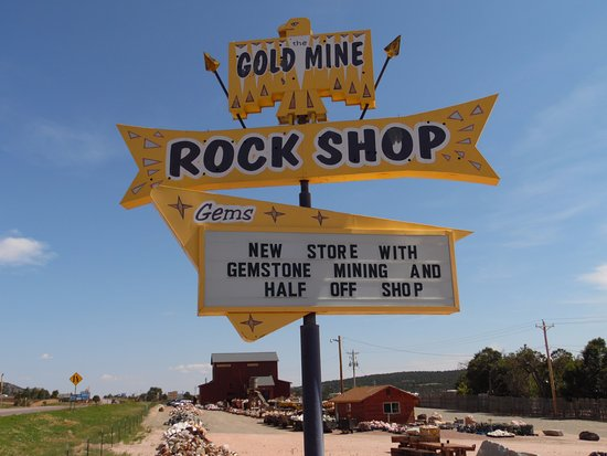 Canon City, CO: Old Sign ,New Rock Shop
