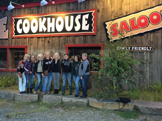 Dwight, Canada: Motorcycle group of friends enjoyed dinner and evening at The Cookhouse Saloon!