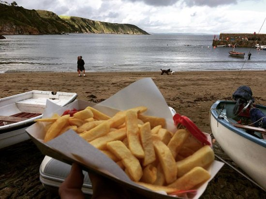 Gorran Haven, UK: Chips!
