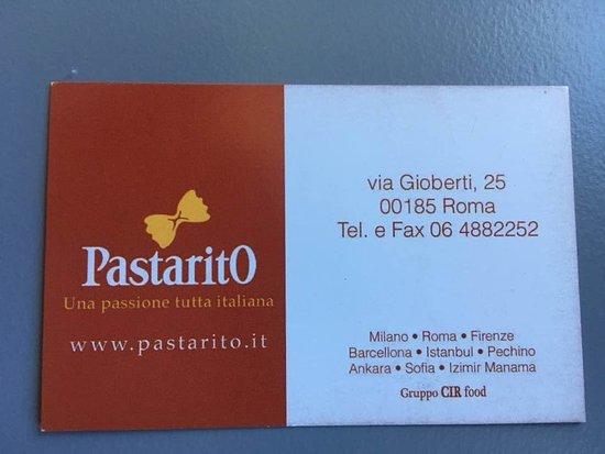 Pastarito Pizzarito : their business card