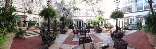 The Ritz-Carlton, New Orleans: This courtyard inside the hotel was surprisingly breezy and cool on a hot September day.