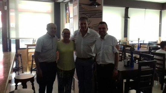 Alcaudete, Spain: Hoy havicitado nuestro restaurante el periodista de canal sur Carlos María Ruiz y su compañero u