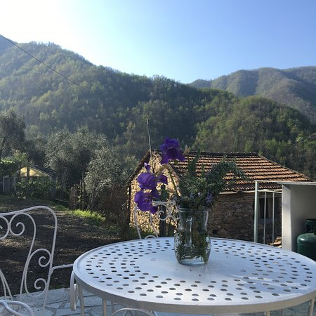 Borghetto d'Arroscia, Italia: view from inner patio of one bedroom house