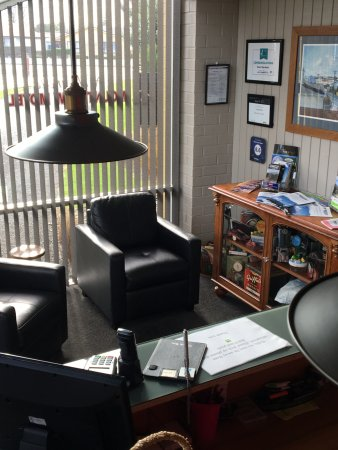 Hawera, New Zealand: Motel reception