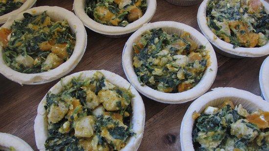 Murchison, New Zealand: Chicken, Pumpkin and Spinach Pies
