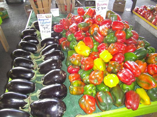 Leesport, PA: Eggplant and peppers