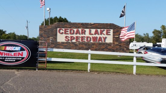 New Richmond, WI: Entrance to Cedar Lake Speedway