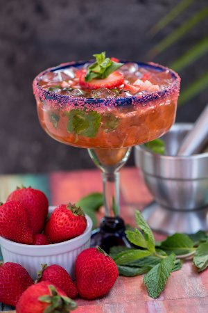 Gautier, Μισισιπής: This incredibly refreshing strawberry Margarita will definitely quench one's thirst!
