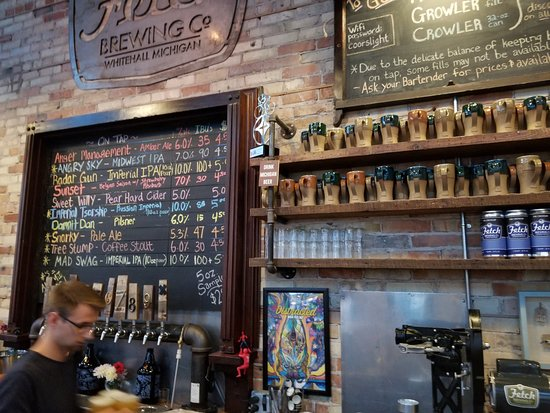 Whitehall, MI: The Bar with list of on tap brews