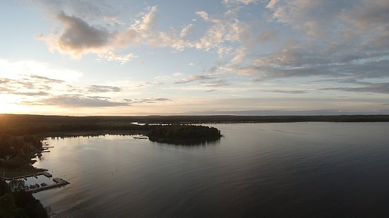 Ellison Bay, WI: From above at Rowley's Bay, WI