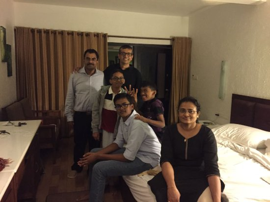 The Tall Trees Munnar: A family photo of us in one of the three rooms we booked