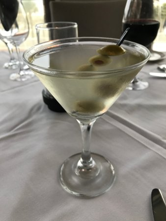 Voyagers Restaurant: The martini at Voyaters was perfect: Grey Goose, dirty, with olives. Yum.