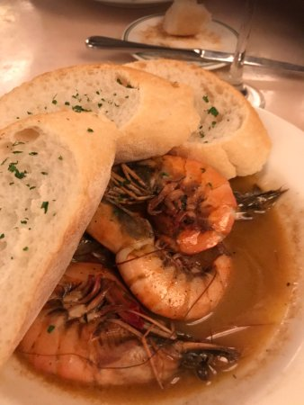 Mr. B's Bistro: BBQ shrimp in sauce with fresh hot french bread