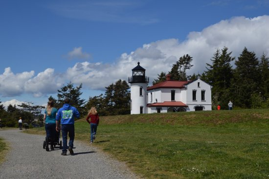 Coupeville, WA: The lighthouse at Fort Casey.