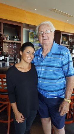 Creve Coeur, MO: Gina has a smile and a great meal for Dale, from Kansas City!