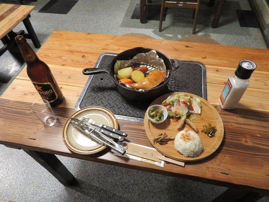 Horokanai-cho, Japon : ダッチオーブンの料理で、美味しく頂きました