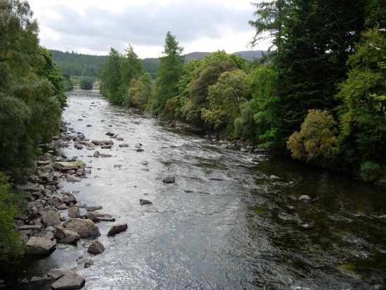 The River Dee with Balmoral Castle to the left