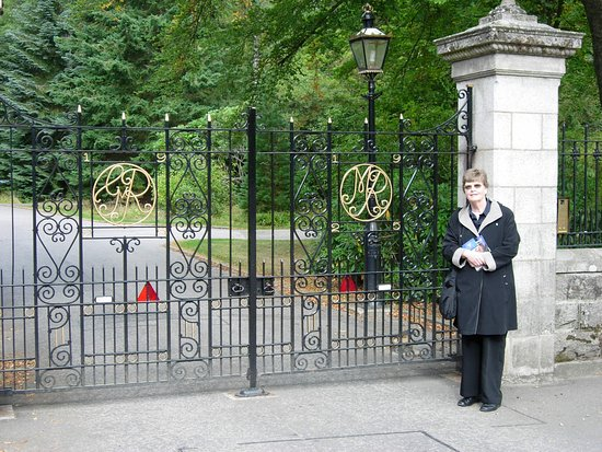 Balmoral Castle's entrance gates