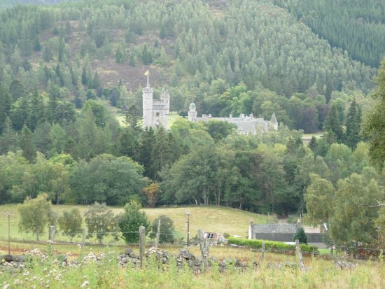 Balmoral Castle in its park