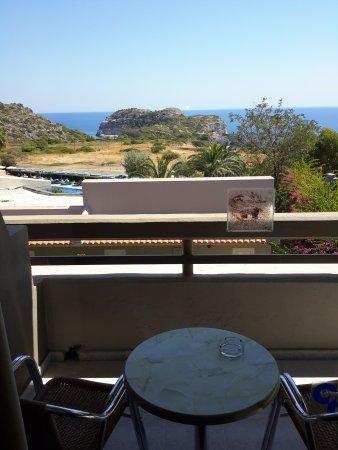 Ladiko, Greece: Blick vom Balkon.