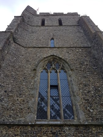 Elham, UK: Tower facing the square