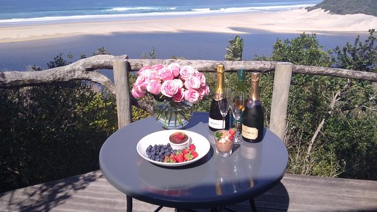 Port St Johns, Sydafrika: Private Deck of Room Ntabeni Suite 52