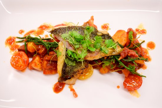 Forfar, UK: Scottish seabass cooked to perfection