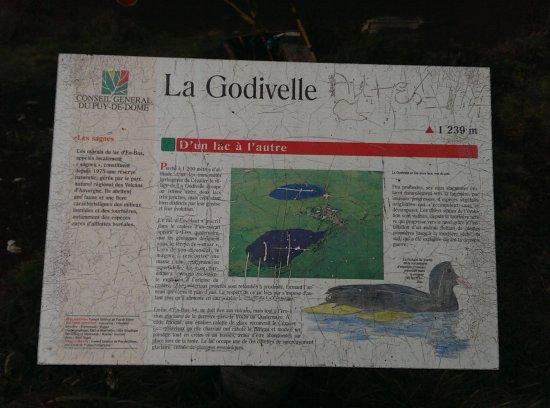 La Godivelle, France: Ce panneau d'information se situe au Lac d'en Haut