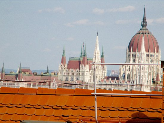 B & B Bellevue Budapest: View from the kitchen terrace