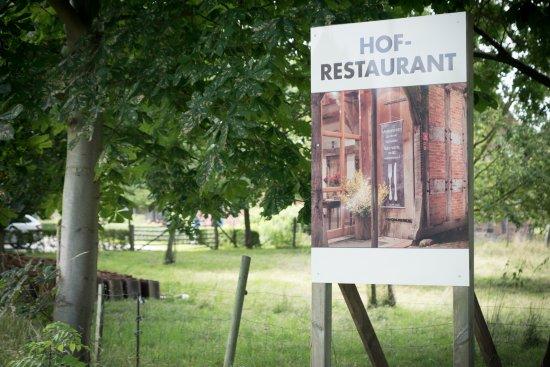 Syke, Германия: Anfahrt, Blick von der Straße aus