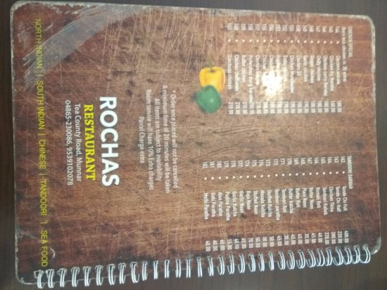 Rochas Restaurant : Menu 2