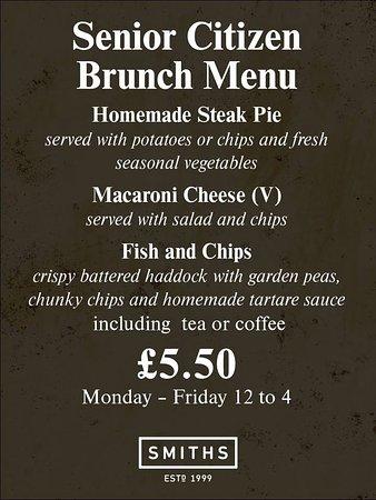 Kirkintilloch, UK: senior menu