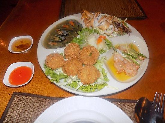 Silom Village Restaurant: Visuel appétissant, si seulement le goût y était