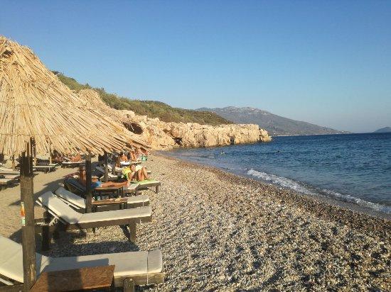 Marathokampos, Grecja: spiaggia attrezzata